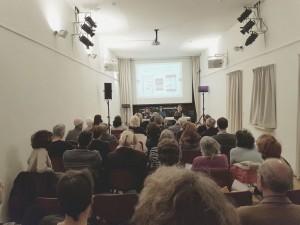 La sala dell'Istituto Italiano di Cultura ad Amsterdam