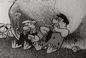 Fred e Barney fumano sigarette Winston