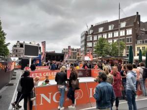 La fanzone Neude a Utrecht