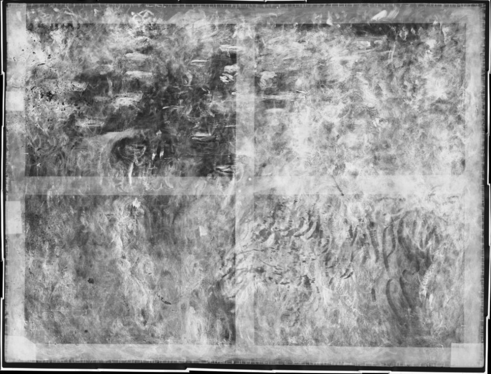 "The X-ray of Claude Monet's Wisteria painting shows a hidden version of his ""Water Lily"" series."